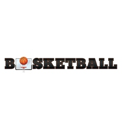 Basketball Word Art vector image