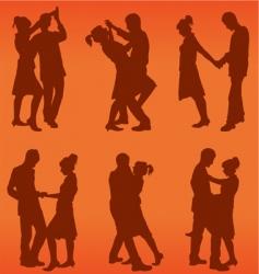 couple dance vector image vector image