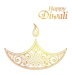 Indian festival Diwali greeting card design vector image