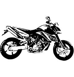 one color abstract motocross vector image