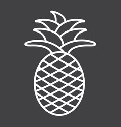 pineapple line icon fruit and tropical vector image vector image