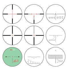 reticles - set vector image
