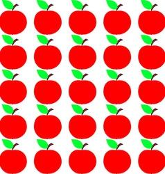 Seamless Apple Texture Autumn Fruit Background vector image vector image