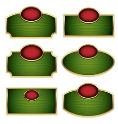 Simplistic labels vector image vector image