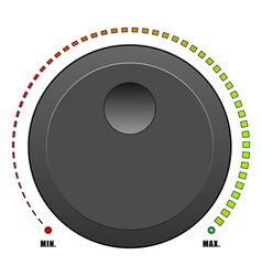 volume dial vector image vector image