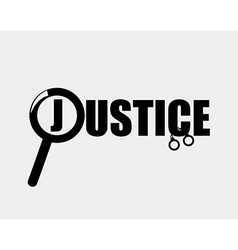 justice concept vector image vector image