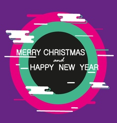Merry Christmas and Happy New Year abstract banner vector image