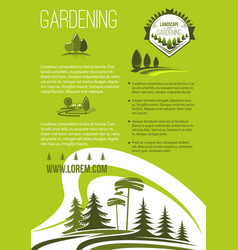 poster of landscape or gardening company vector image vector image