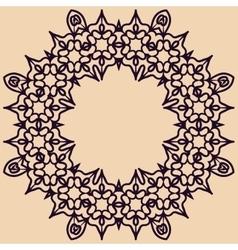 Rosette ornament vector image