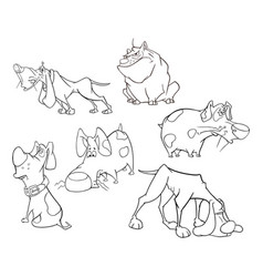 set of cute dogs for you design cartoon character vector image vector image