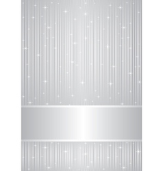 silver background with sparkles vector image vector image