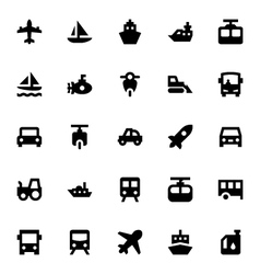 Transportation icons 2 vector