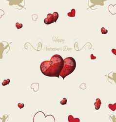 vintage elements Valentines Day vector image