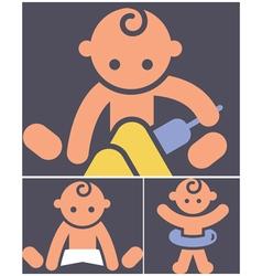 Kids activities icons set vector image vector image