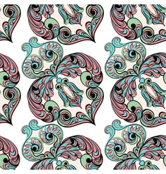 Seamless pattern Owl doodle cartoon vector image vector image