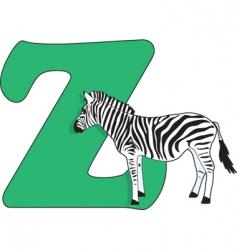 z is for zebra vector image
