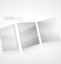 3d mirror background vector image
