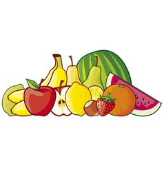 A group of fruits vector