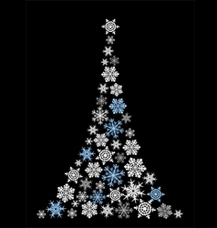 Abstract christmas tree simple drawing vector image