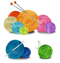 Balls wool vector