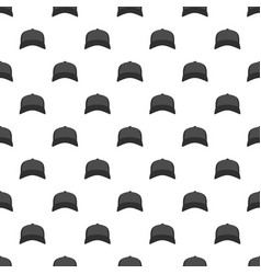 baseball hat in front pattern seamless vector image vector image