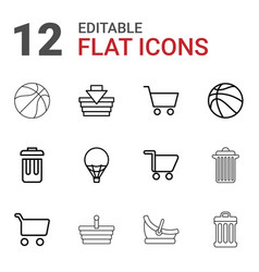 Basket icons vector