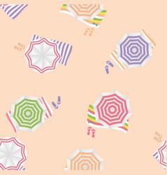 beach umbrella seamless pattern background vector image