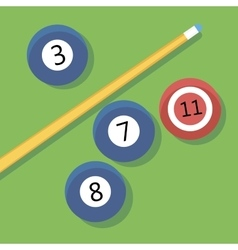 billiards vector image