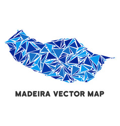 Blue triangle portugal madeira island map vector
