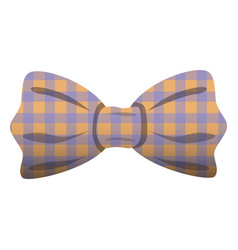bowtie in squares icon cartoon style vector image