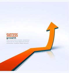 Business success growth arrow moving upward vector