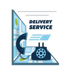 Call delivery service and map ubication vector