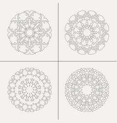 Circular ornaments set vector