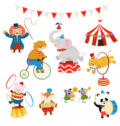 Circus characters set vector