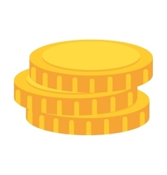 Coin money stack vector