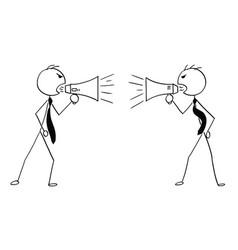 Conceptual cartoon two businessmen vector