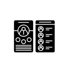 Contact business book black icon sign on vector