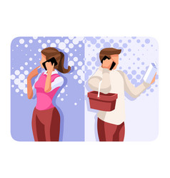 couple communication concept vector image