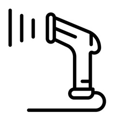Data barcode scanner icon outline style vector