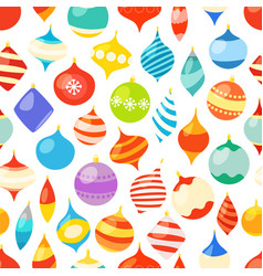 different christmas bauble seamless pattern vector image