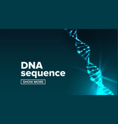 Dna structure science background human vector