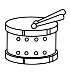 Drum instrument toy icon vector