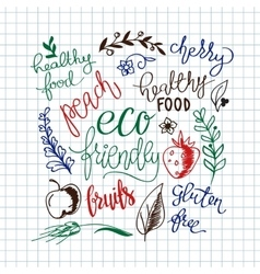 Eco friendly concept - design element made vector