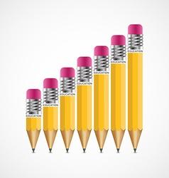 Education pencil option Infographics design vector image