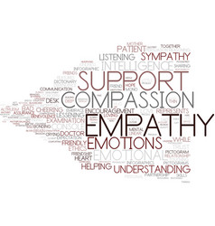 Empathy word cloud concept vector