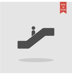 Escalator icon Flat design style vector image