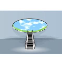 Escalator in sky vector