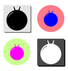 Fitness ball kangaroo flat icon vector