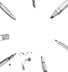 Frame pens backgrounds vector image