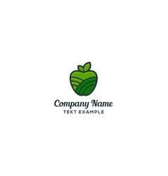 fruit logo concept apple icon vector image